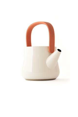 Чайник 2в1 для плиты и заварочный 1л (белый) Ron
