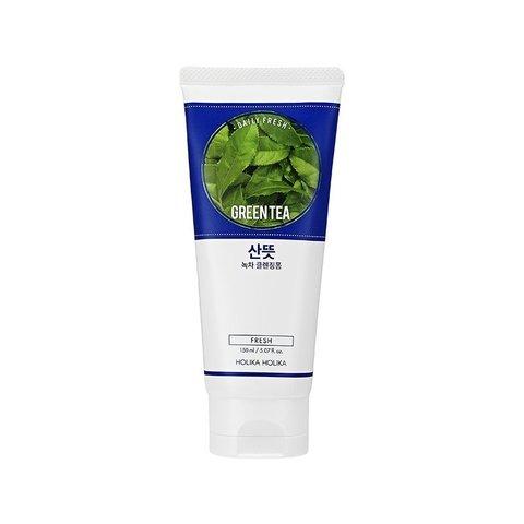 Очищающая пенка для лица  зеленый чай для проблемной кожи Daily Fresh,  Holika Holikа, 150 мл