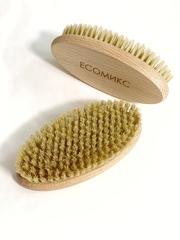Щетка натуральная массажная без ручки щетина дикого кабана ( лимфодренажная щетка) ECOмикс