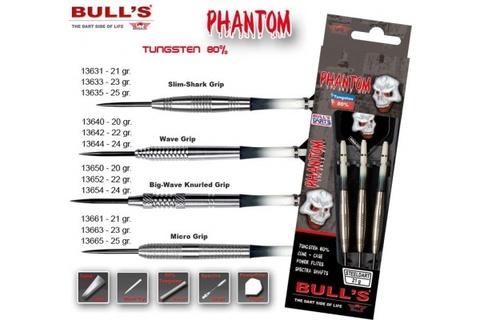 Дротики для дартса (3шт.) Bull's Phantom, вольфрам 80, 23g (артикул 13633)