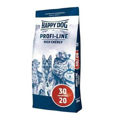 20 кг. HAPPY DOG Сухой корм для взрослых собак высококалорийный Profi Line High Energy