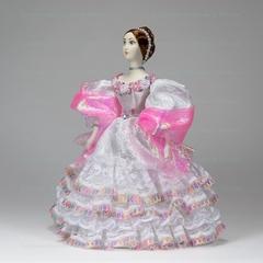 Сувенирная кукла в костюме невесты середины 19 века