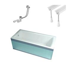Ванна прямоугольная с каркасом и сифоном 170x75 см Ravak Domino Plus 70508024 фото