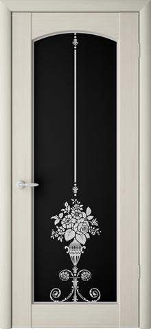 Дверь ALBERO Верона, триплекс (беленый дуб, остекленная ПВХ), фабрика Фрегат