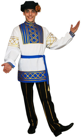 Русский народный костюм Олег голубой