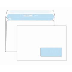 Конверт BusinessPost C5 90 г/кв.м белый стрип с внутренней запечаткой с правым окном (1000 штук в упаковке)