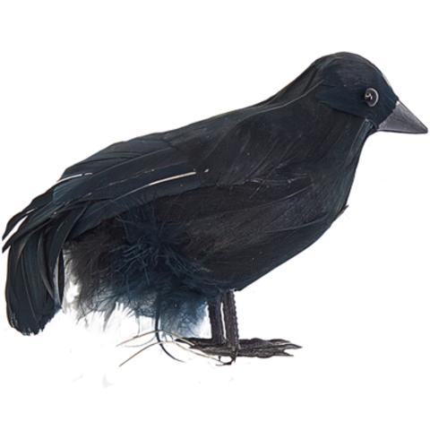 Ворона пластик 15х9см