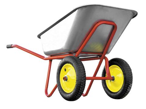 Тачка строительная РемоКолор двухколесная, грузоподъемность 240 кг, объем 110 л