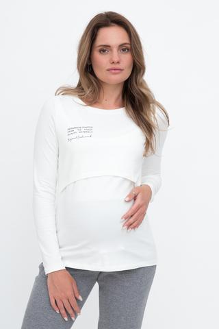 Лонгслив для беременных и кормящих 11089 тофу