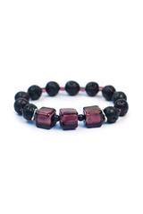 Браслет Murano Flex Cubo черно-фиолетовый