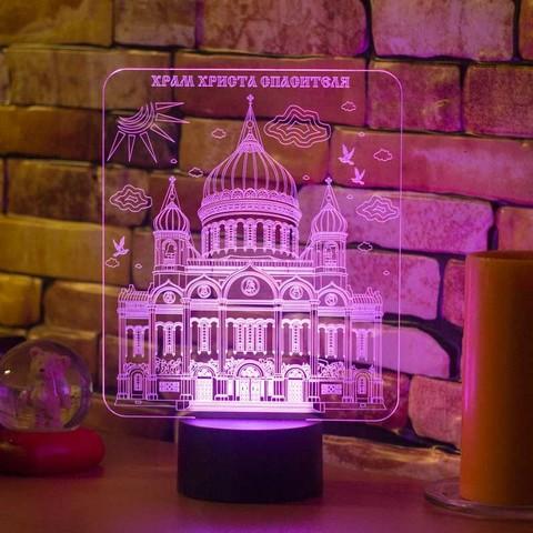 3D ночник Храм Христа Спасителя