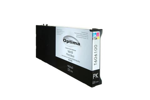 Картридж Optima для Epson 4800/4880 C13T606100 Photo Black 220 мл