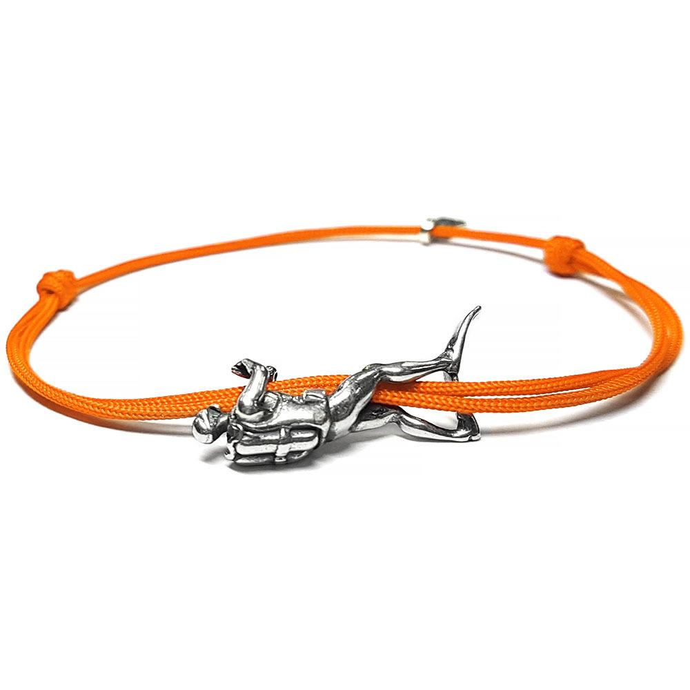 Scuba Diver Bracelet, sterling silver