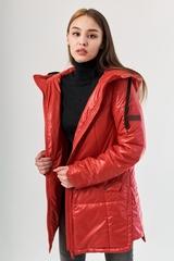 Полупальто Дива красный