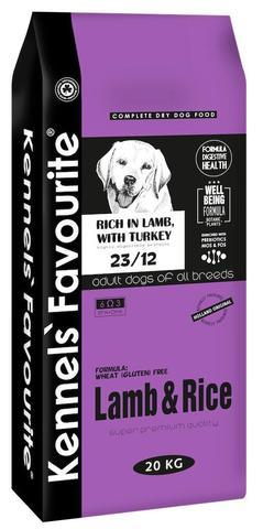 Сухой корм KENNELS` FAVOURITE DOG ADULT LAMB & RICE для взрослых собак всех пород с ягненком и рисом 20 кг.