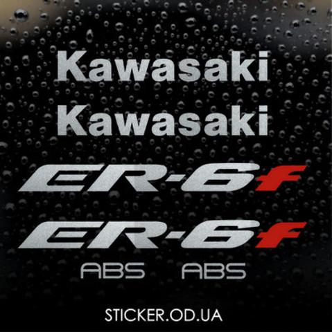 Набор виниловых наклеек на мотоцикл KAWASAKI ER-6F 2008