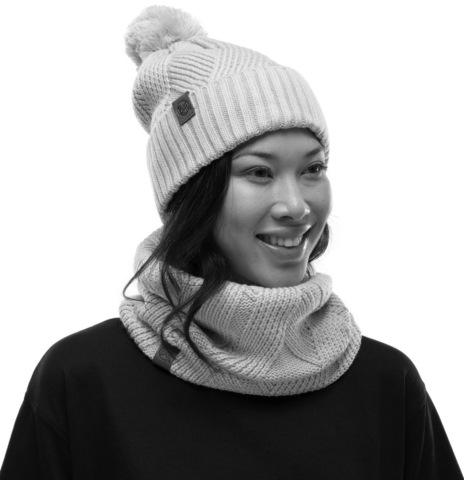 Шапка вязаная с флисом Buff Hat Knitted Polar Raisa Grey Castlerock фото 2