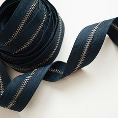 Молния металлическая №5, Темно-синий, цена за 10 см.