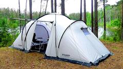 Палатка кемпинговая Talberg Base 6 Sahara светлый - 2
