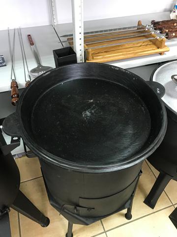 Чугунная крышка-сковорода 22 л