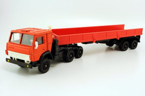 KAMAZ-5410 with semitrailer ODAZ-9370 red Elecon Arek 1:43