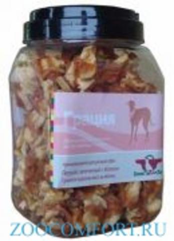 Грин Кьюзин 057 Лакомство д\собак Грация (сушеное куриное мясо на яблоке) туба 750гр*6