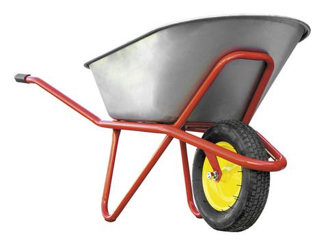 Тачка строительная РемоКолор одноколесная, грузоподъемность 200 кг, объем 90 л
