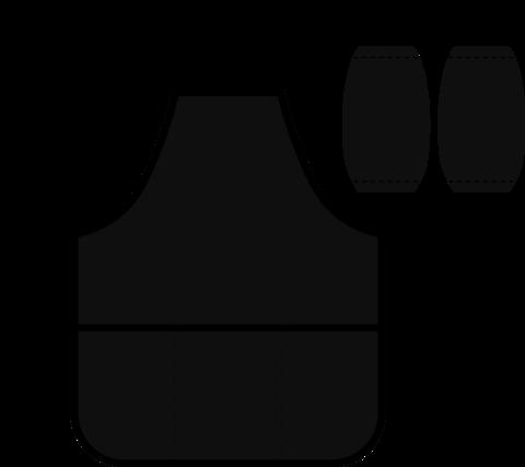 Фартук для труда 3 карманами 535х445 с нарук. Черный