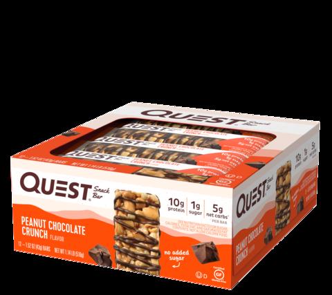 Батончики Quest Snack Bar со вкусом арахиса и шоколада (12 шт)