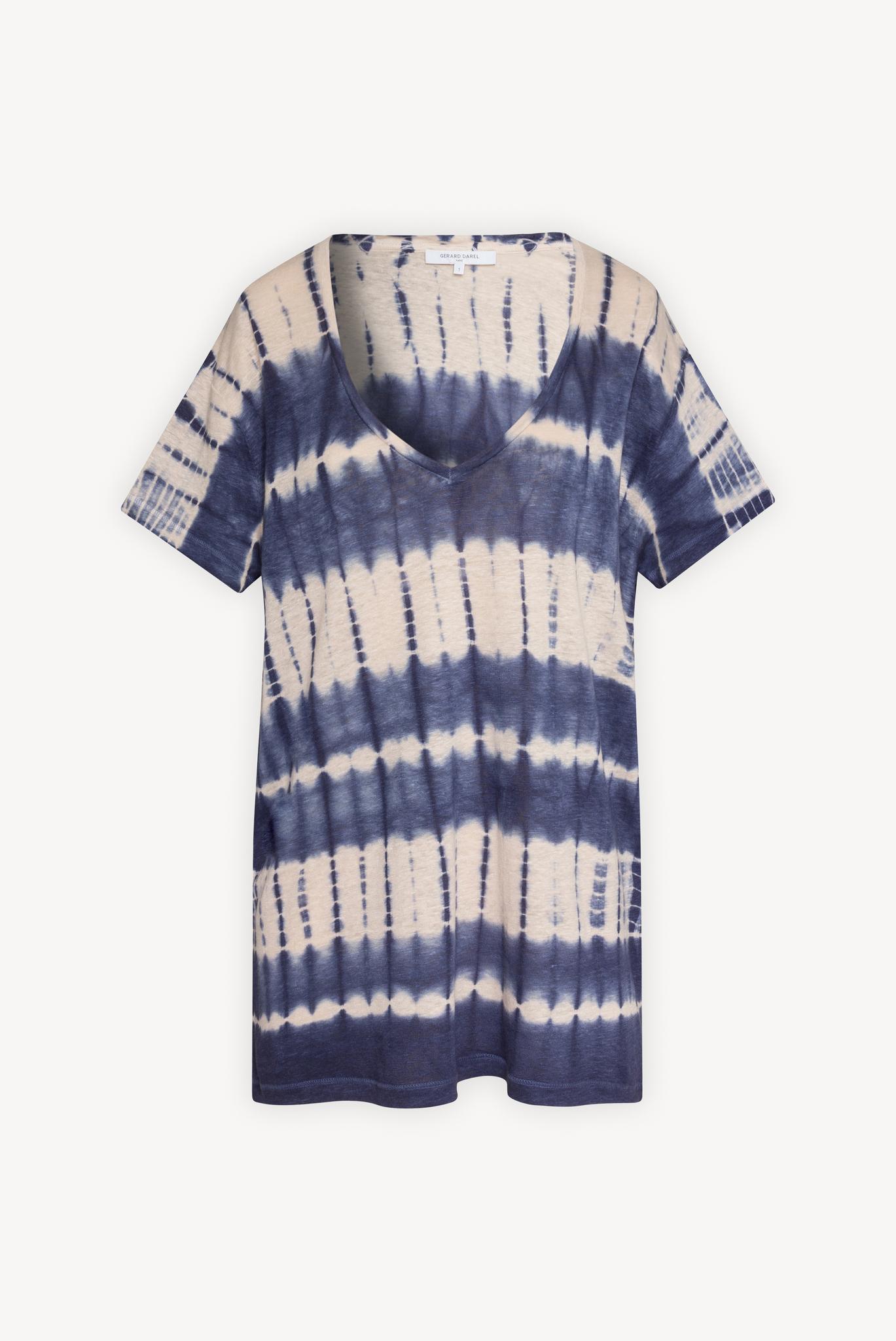JACKSON - Льняная футболка с принтом тай-дай