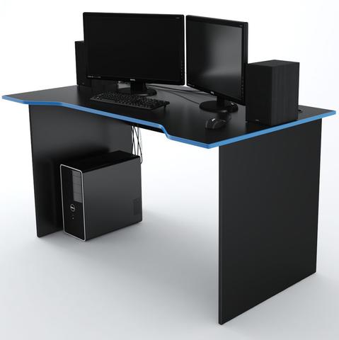 Стол Компьютерный Jedi 1400 Черный/Голубой