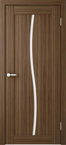 Дверь ALBERO Токио1, триплекс (лесной орех, остекленная ПВХ), фабрика Фрегат