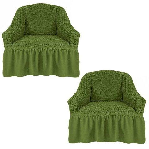 Чехол на два кресла, изумруд