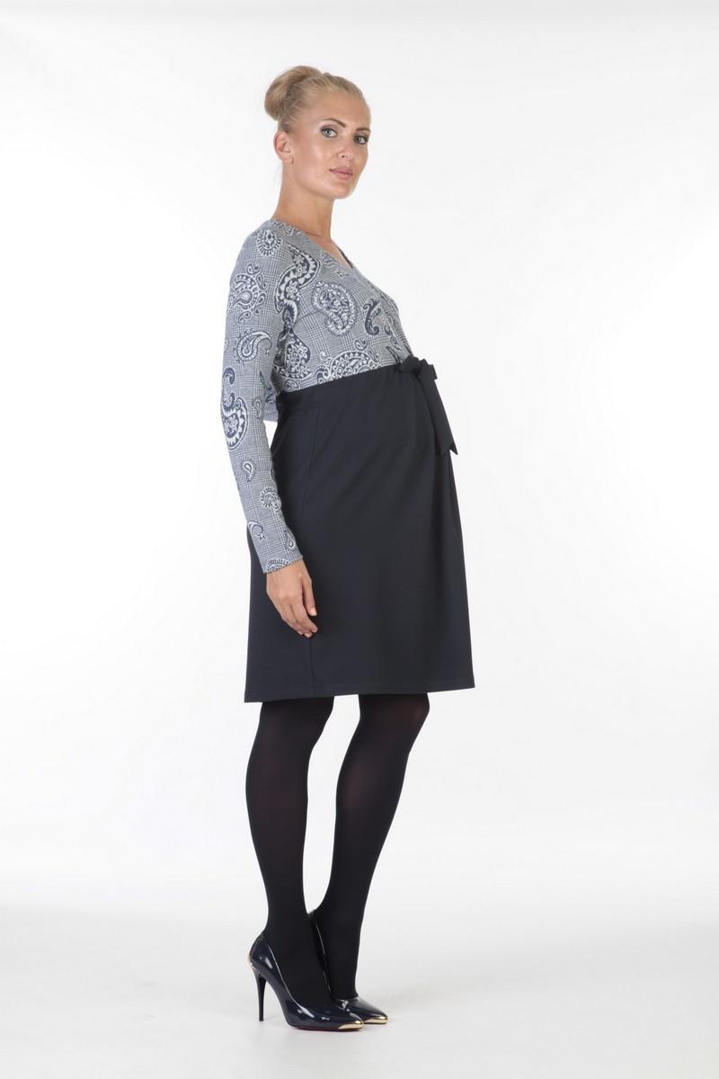 Платье для беременных 05974 синий