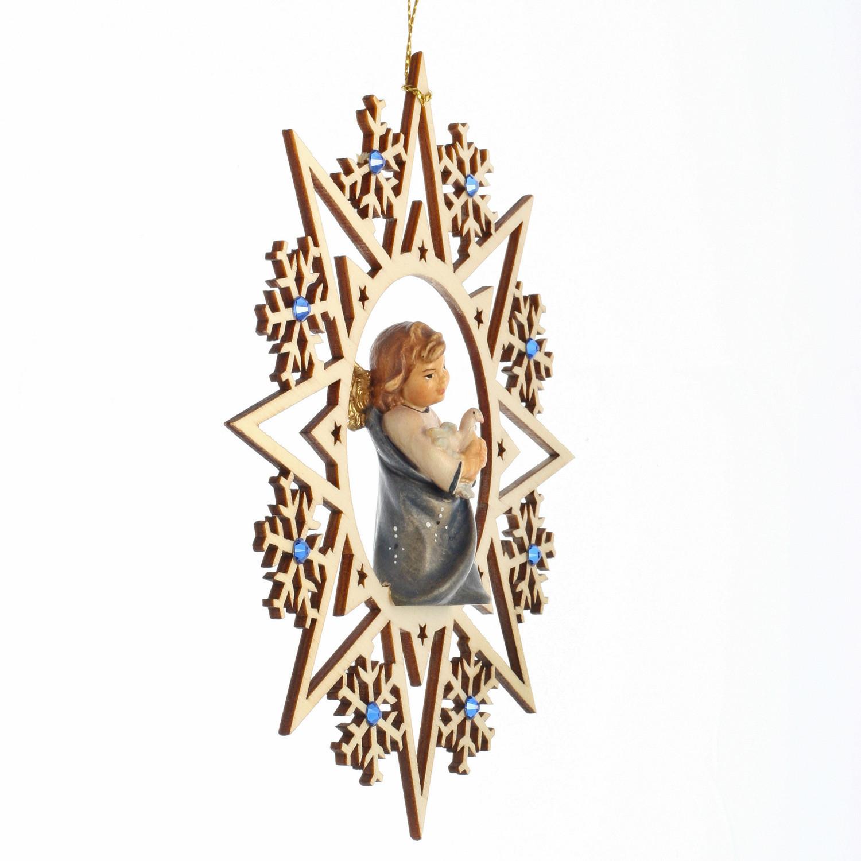 Ангел с голубем со стразами Сваровски