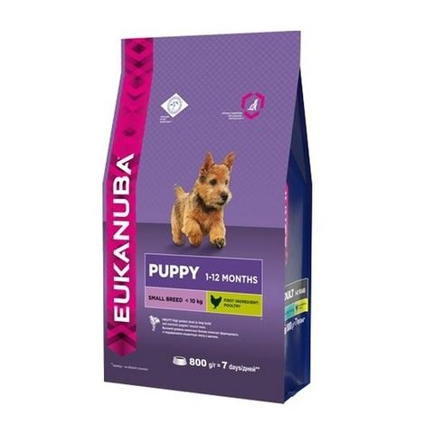 10 кг. EUKANUBA Сухой корм для щенков мелких пород Puppy&Junior Small Breed