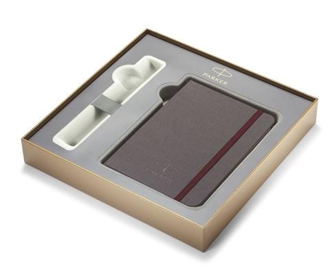 *Подарочная коробка Parker с фирменной записной книжкой