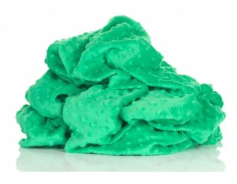 Плюш в точку Зеленый, отрез 50*80 см