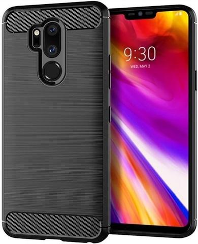Чехол для LG G7 ThinQ (G7+ ThinQ) цвет Black (черный), серия Carbon от Caseport