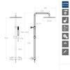 Душевая система с термостатом и тропическим душем для ванны DRAKO 335403RM300 - фото №2