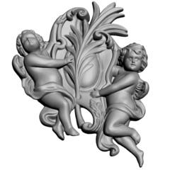 Силиконовый молд № 2040 Ангелы 2D