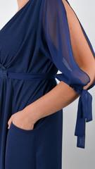 Алла. Изысканное платье plus size. Синий.