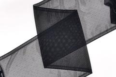 Эластичная сеточка с окантовкой и мушками, 26 см, черная, м, (Арт: EK-2402), м