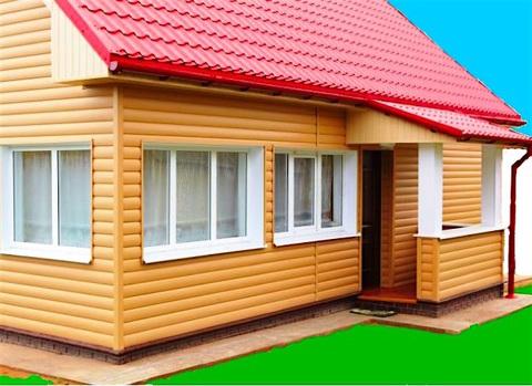 Пример отделки наружным углом блок хаус