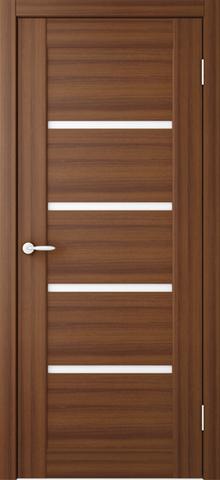 Дверь ALBERO Токио2, триплекс (орех таволато, остекленная ПВХ), фабрика Фрегат