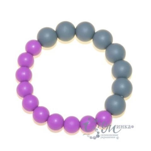 Браслет двойной серо-фиолетовый