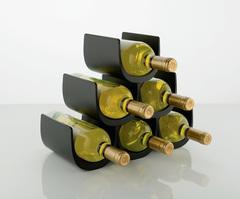 Подставка модульная для винных бутылок Noe черная, фото 1