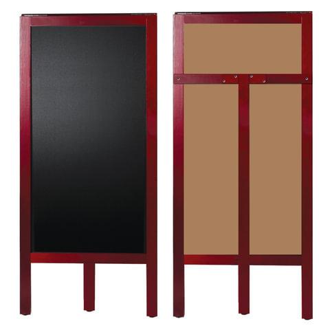Доска-штендер меловая, BRAUBERG, односторонняя, 45х104 см, деревянная, окрашенная рама