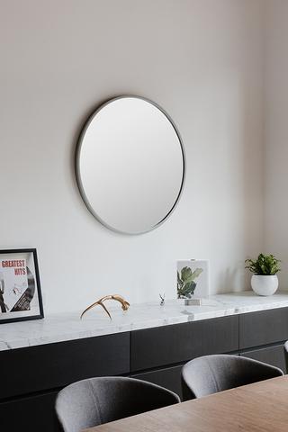 Зеркало настенное Hub D94 см серое