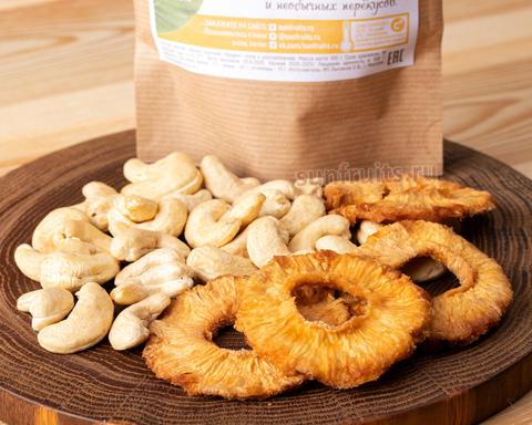 тропический перекус микс из орешков и ананаса
